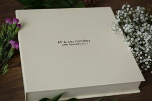box for wedding album
