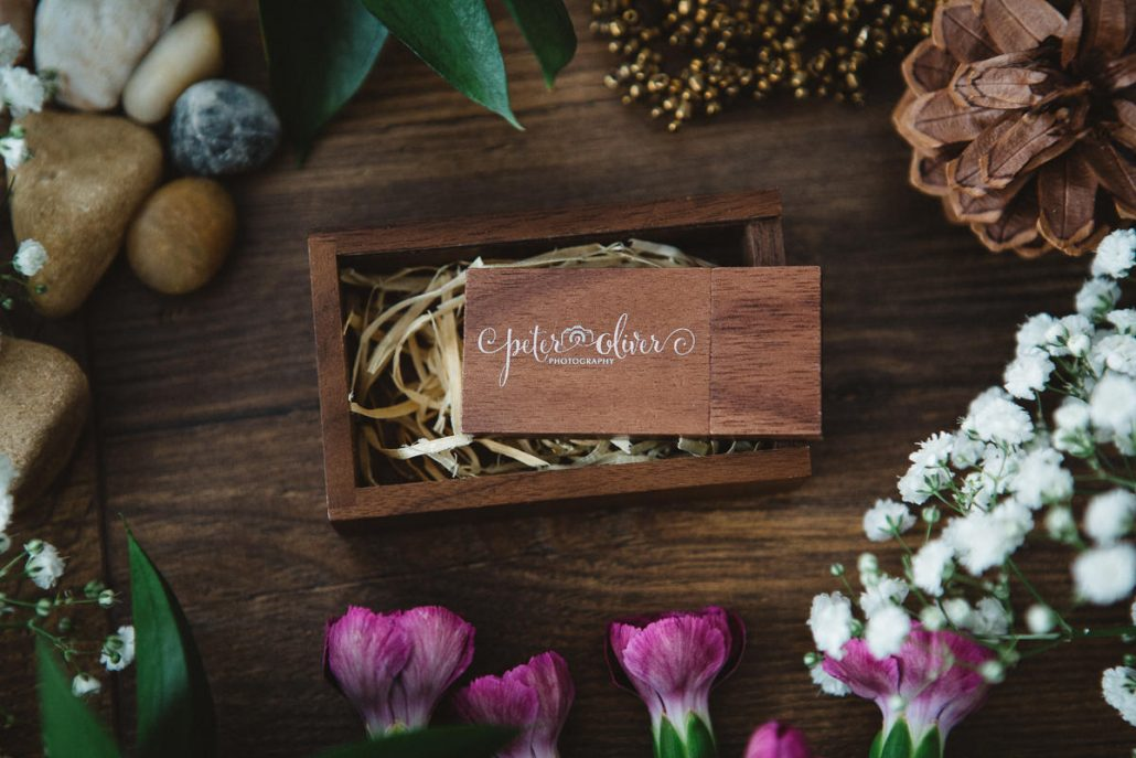 wooden usb wedding photographer