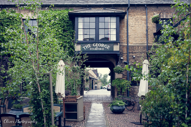 garden are at at The George Hotel of Stamford