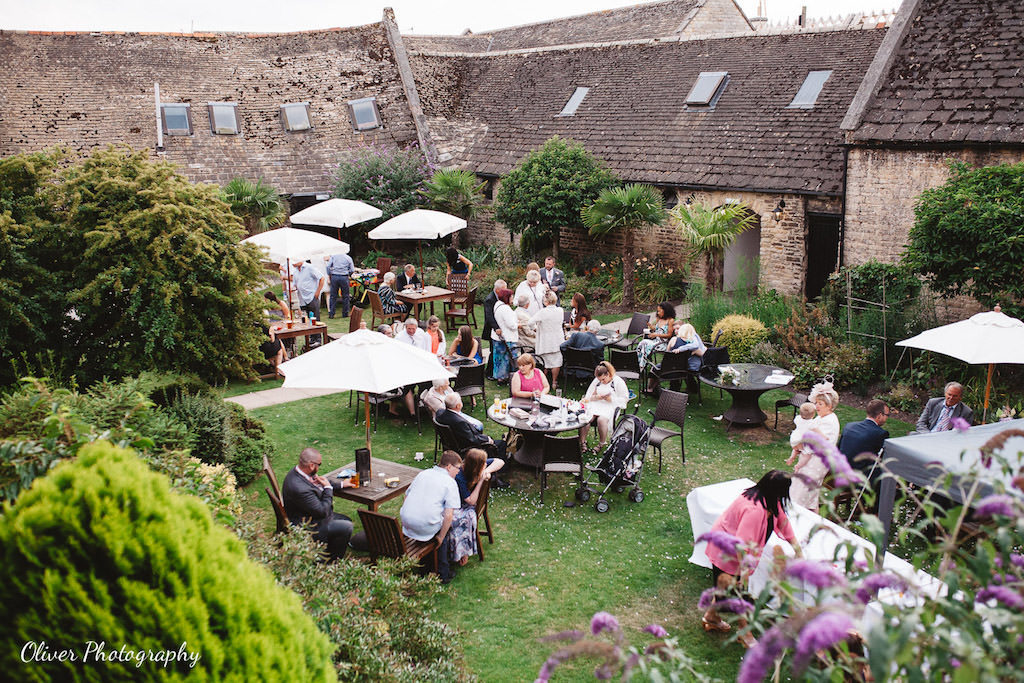 wedding at talbot oundle view from the air