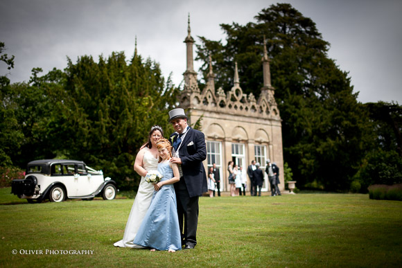 wedding at Burghley House