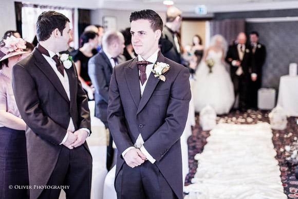 wedding ceremony at Hinckley Island Hotel