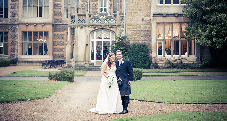 Winter wedding at Orton Hall Hotel