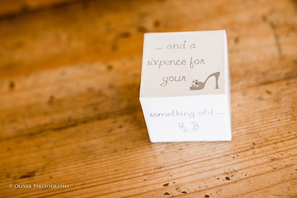 A silver sixpence wedding