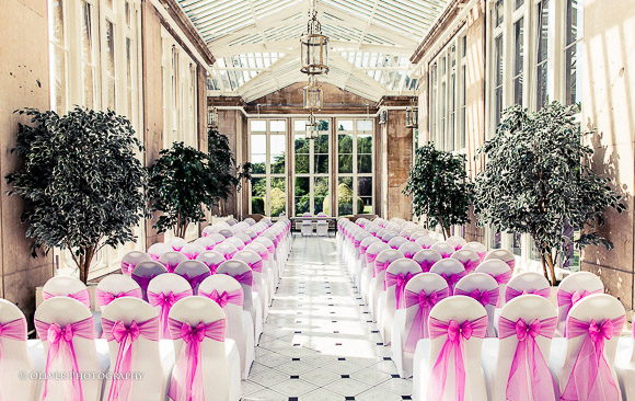 marriage ceremony at Stoke Rochford Hall