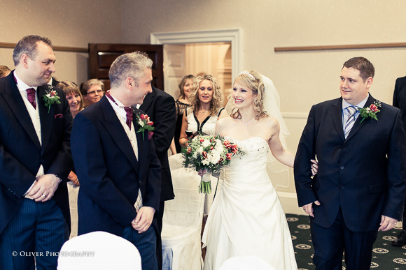 wedding ceremony Wadenhoe House