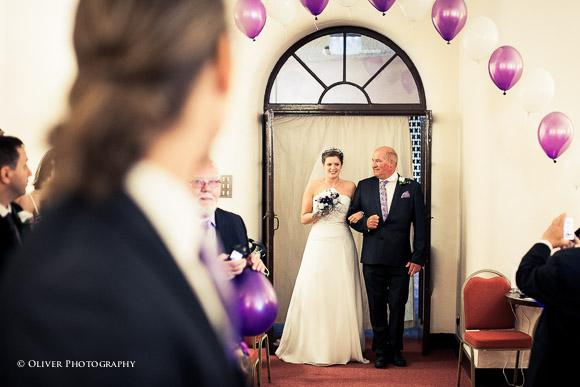 Bedford Hall wedding ceremony