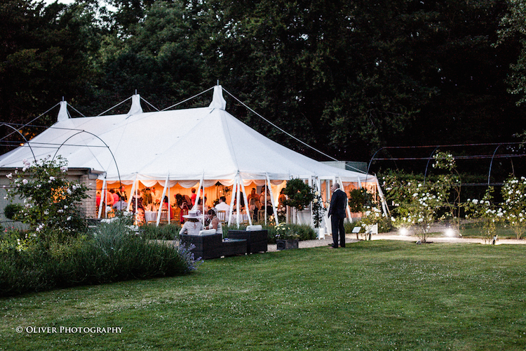wedding marquee at William Cecil Stamford