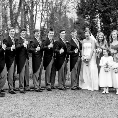 group shots wedding at wadenhoe house