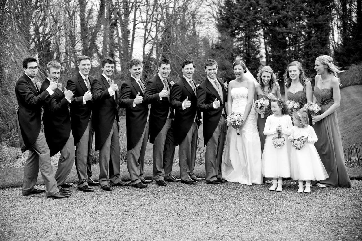 group shots wedding at wadenhoe house