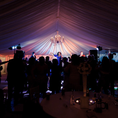 Nicole Lawrence performing at the wedding