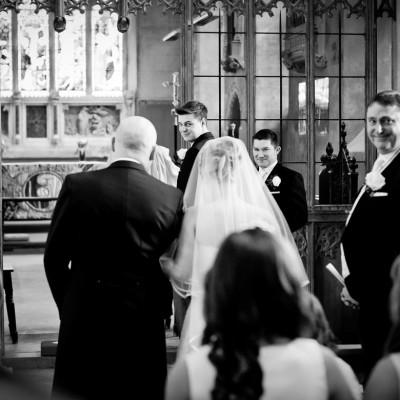 church wedding bride entrance
