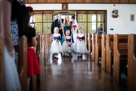 polish wedding - walk down the aisle together.