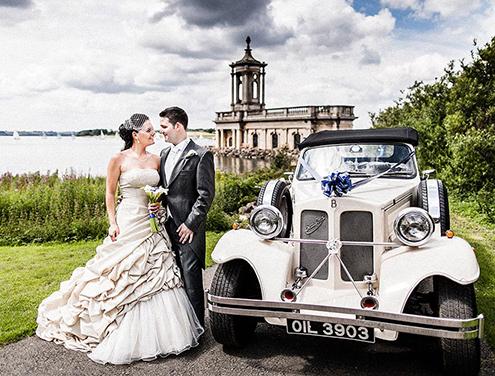wedding at normanton church