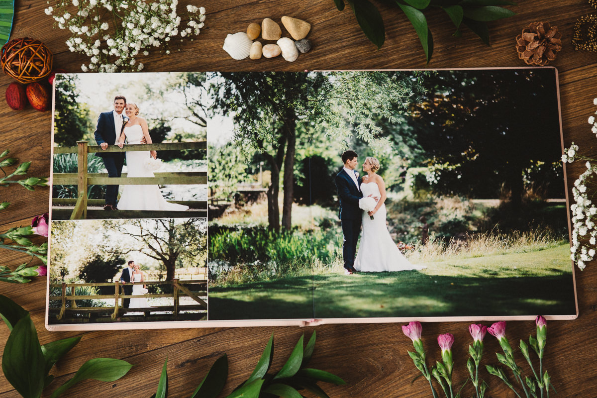 wedding album with metallic paper