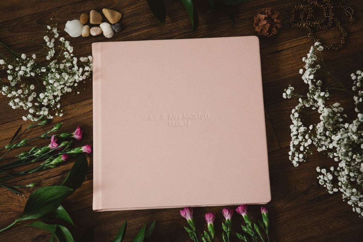 wedding album - pink cover
