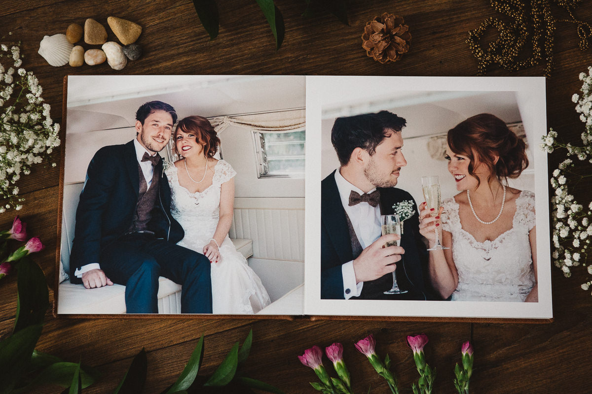 modern elegant wedding album
