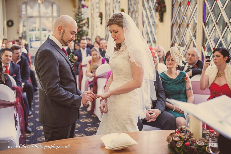 Orton Hall Hotel marriage ceremony