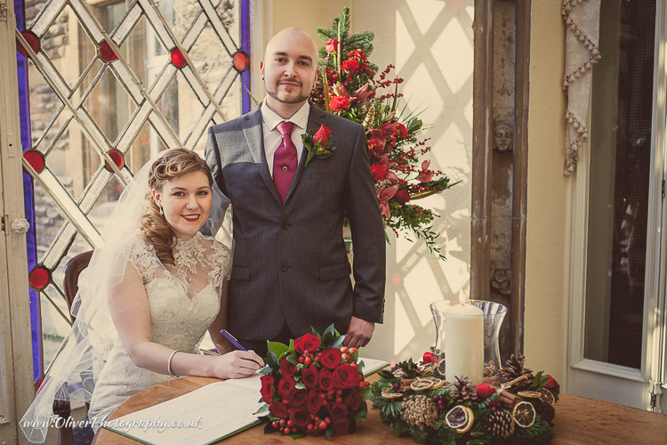 Orton Hall wedding in conservatory