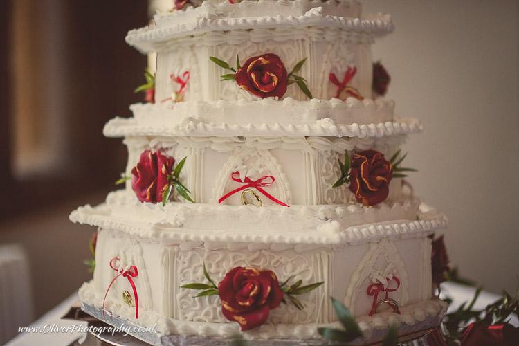 amazing wedding cake vintage style