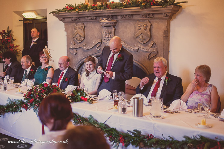 wedding speeches at Orton Hall