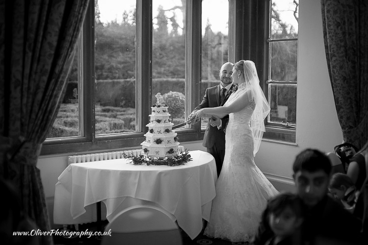 cut the cake wedding image