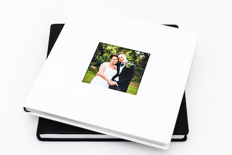 white photo book