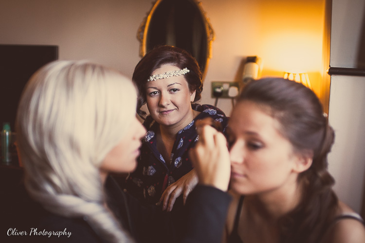 bridal preparation at bell in stilton