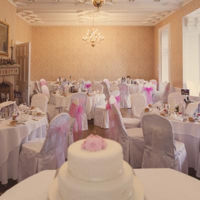 wedding at wadenhoe house tables setup