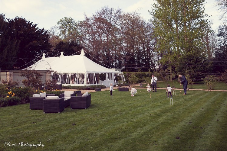 Marquee in the garden of The William Cecil
