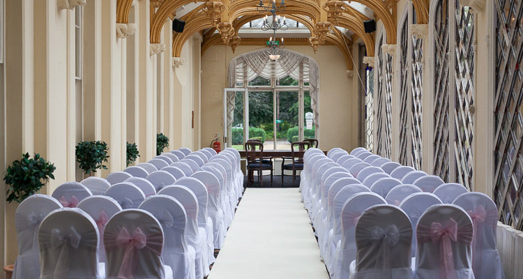 civil ceremony at Orton Hall Hotel Peterborough