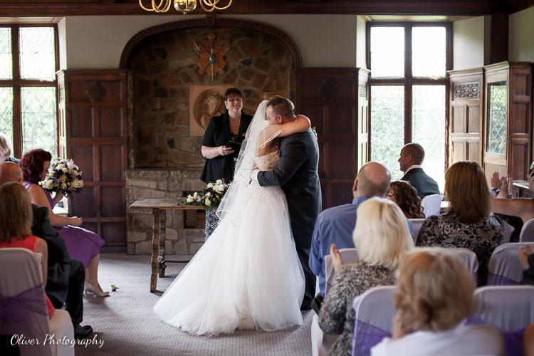 wedding ceremony at Rothley Court
