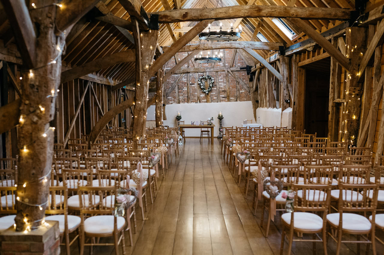inside bassmead manor barn