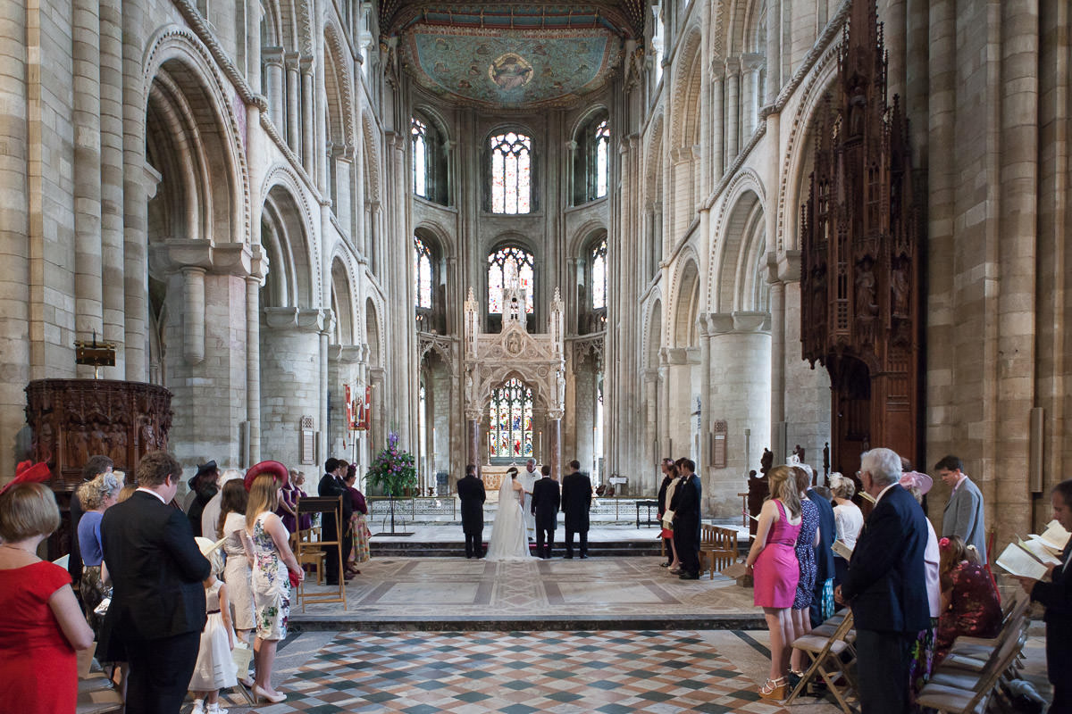 wedding at Peterborough Cathedral