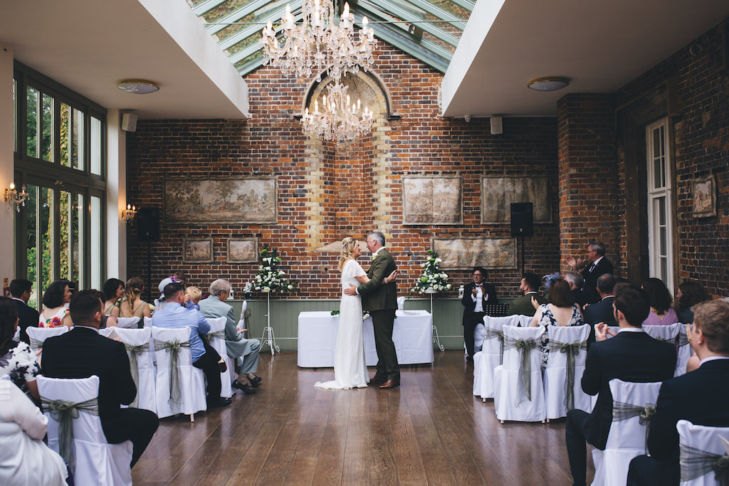 marriage ceremony at offley place