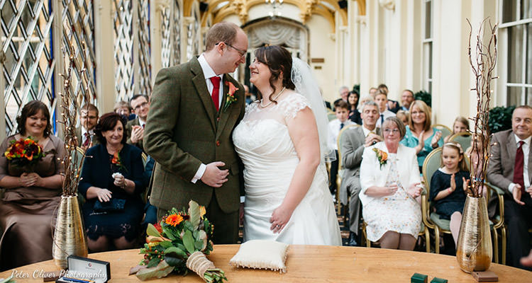wedding photography at Orton hall conservatory