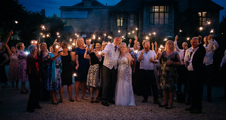 sparkles photo at wedding The William Cecil