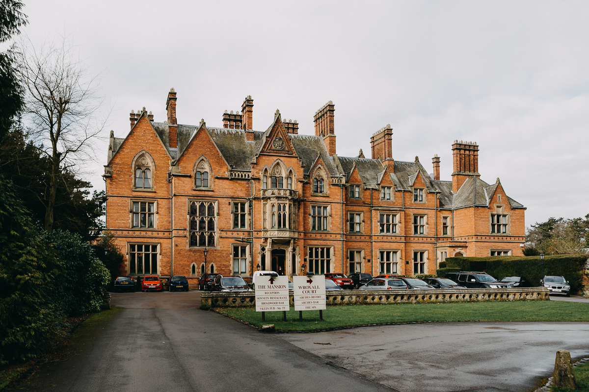 Wroxall Abbey view from outside