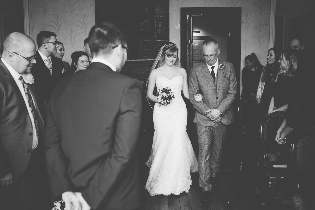 marriage ceremony - wedding at Wroxall Abbey