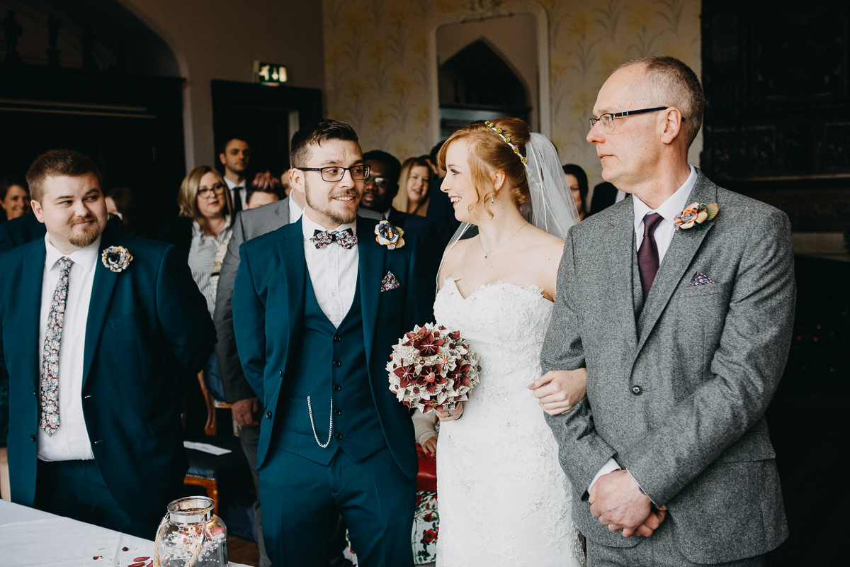 ceremony at Wroxall Abbe