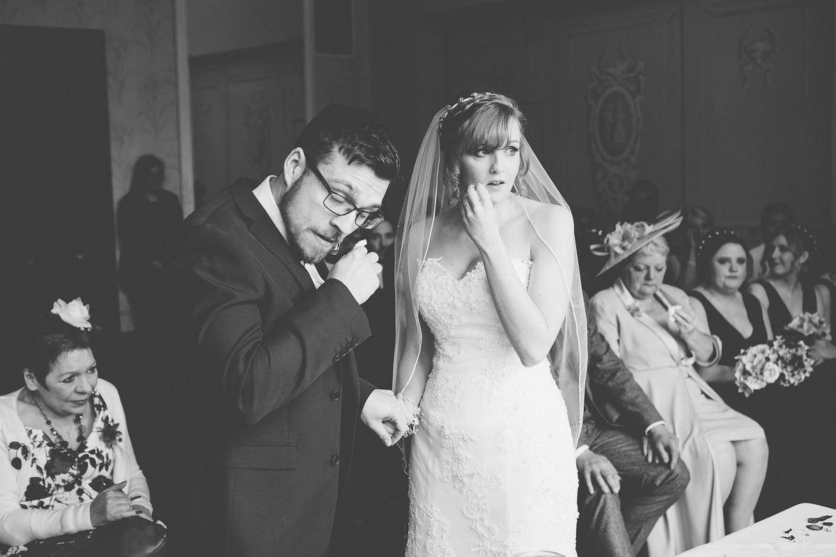 bride and groom Wroxall Abbey Wedding Photography