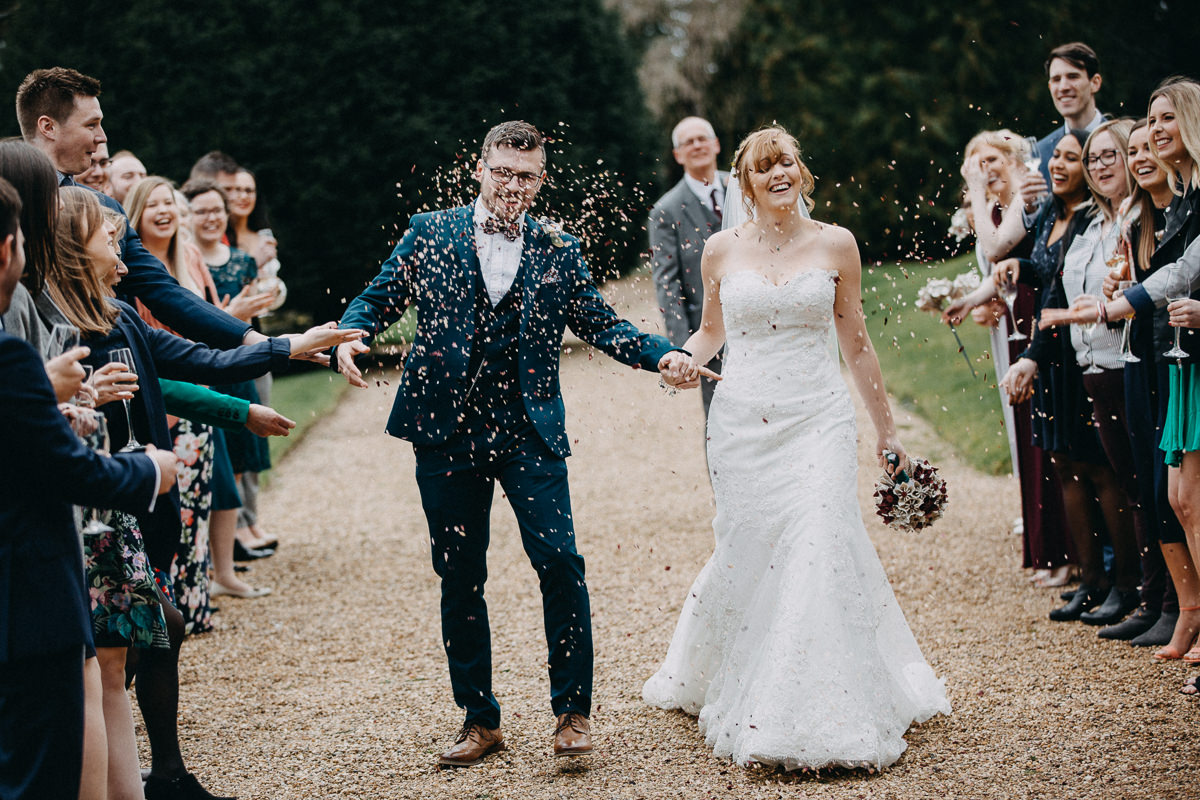 confetti at Wroxall Abbey