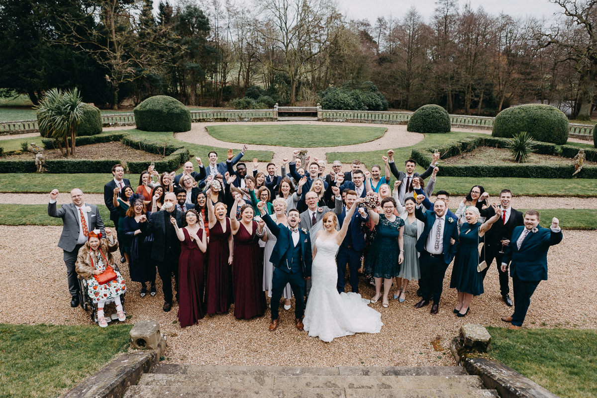 group shoot Wroxall Abbey wedding