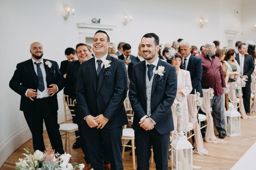 2 minutes before marriage ceremony - best man is laughing