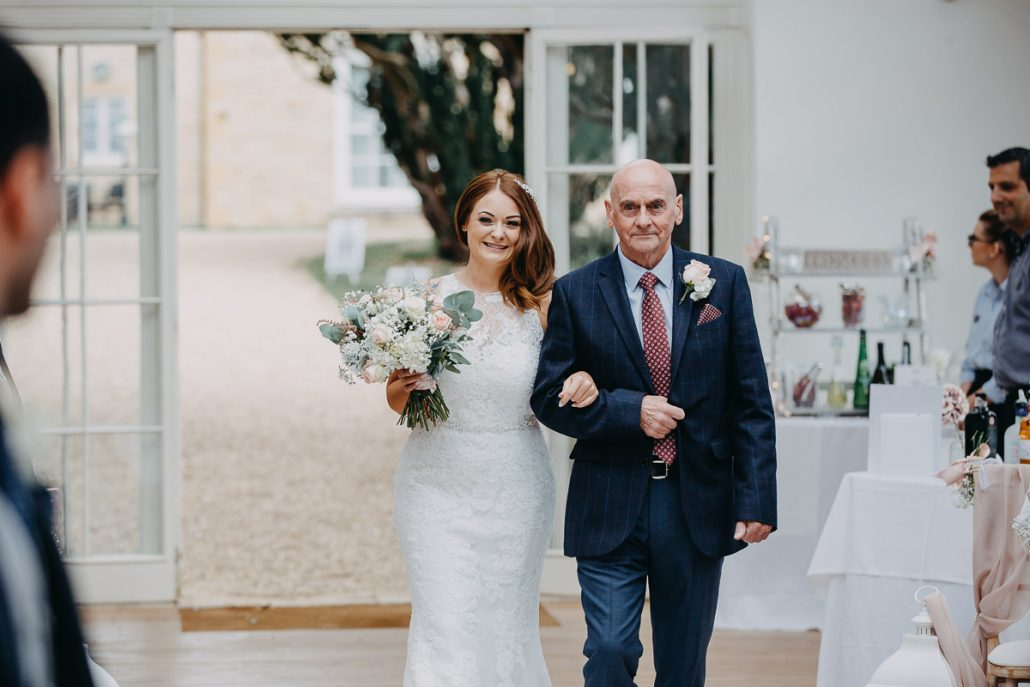 first look at the civil ceremony in Barton Hall's orangery