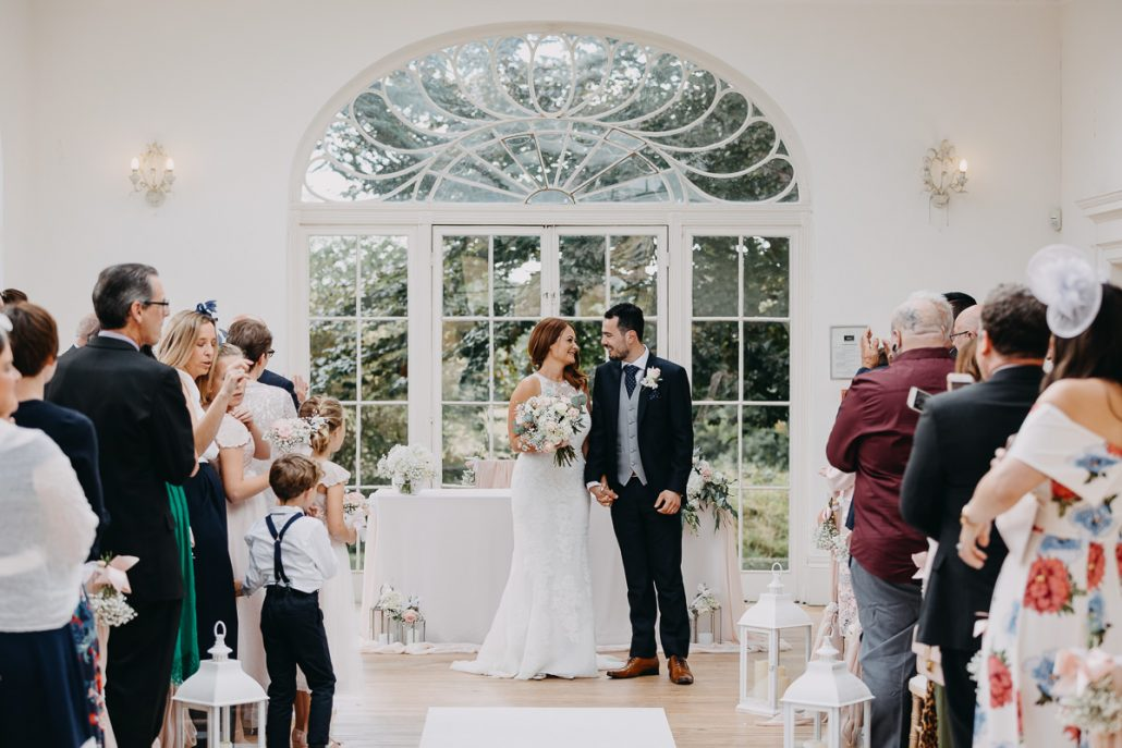 end of the civil ceremony in orangery