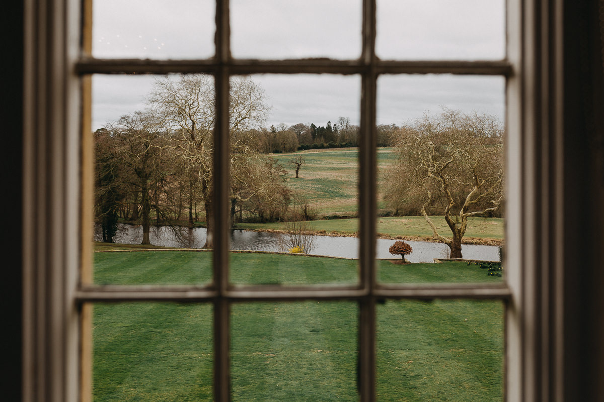 Rushton Hall view from bridal suite