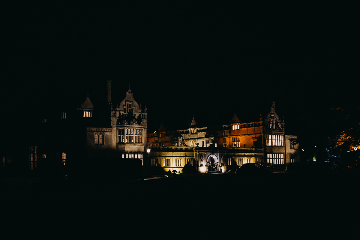 Rushton Hall at night