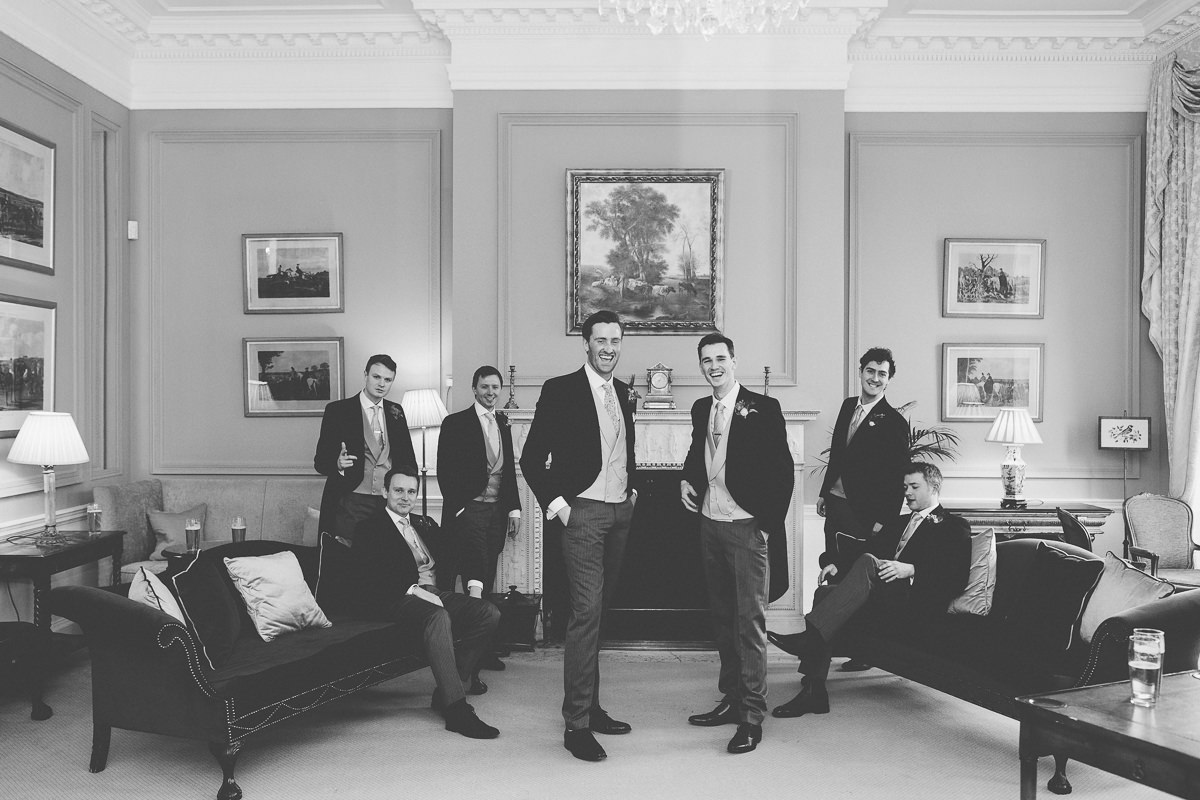 groomsmen at Rushton Hall
