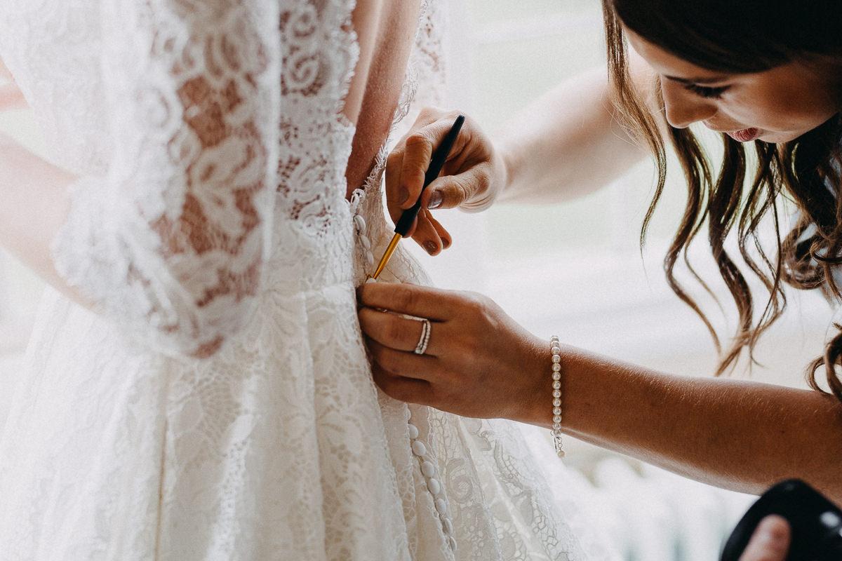 doing a wedding dress up